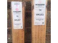Pine newel posts
