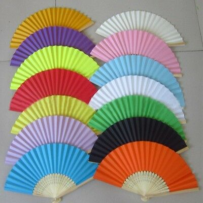 Chinese style Hand Held Fan Bamboo Silk Folding Fan Party Wedding Decor Paper - Hand Held Paper Fans