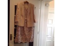 Complete Jacques Vert wedding outfit size 16. Bag ,Facinator ,shoes size 6 Champagne lace £150
