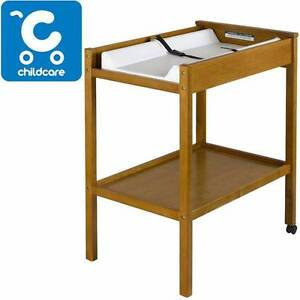 Childcare 2 Tier Baby Change Table - Teak Newport Hobsons Bay Area Preview