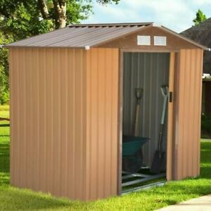 7x4 Garden Storage Shed w/ Floor Foundation /Metal Patio Shed / garden shed / Tools Storage Shed Lawn mover Shed