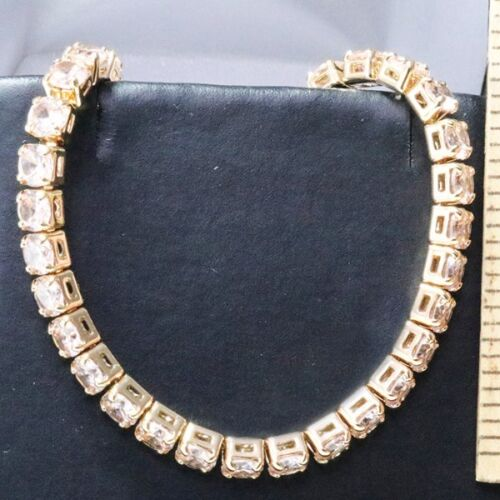 23 Ct Yellow Citrine Tennis Bracelet Women Jewelry 14K Yellow Gold Plated Gift