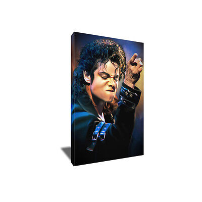 King of Pop MICHAEL JACKSON Poster Photo Painting Artwork on CANVAS Wall (Poster Canvas Art Painting)