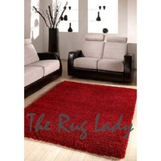 NEW!!! Red Thick Shaggy Floor Rug