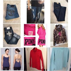 TONS of brand name clothing!!