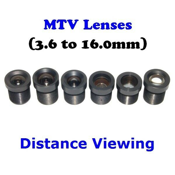Sunvision CCTV Monofocal MTV/M12/Board Mount Long Distance Lens Set (set of 6)