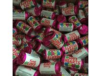 1.4kg of mini love hearts, wedding favours or party bag sweets