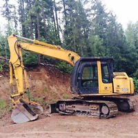 Excavator 120C with blade for RENT or HIRE