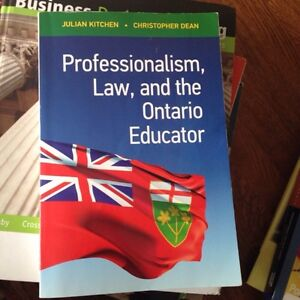 Professionalism, law, and the Ontario educator