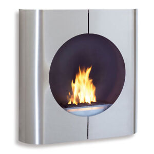 """NEW Blomus – Floz Design – """"Chimo"""" Square Wall Mounted Fireplace"""