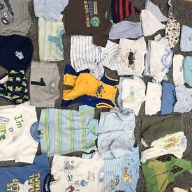 Baby boys 0-3 months clothes bundle