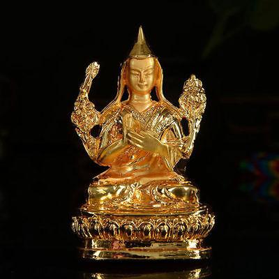 Tibet Tibetan Buddhist Guru Rinpoche Lama Tsongkhapa Buddha Statue Alloy For Car