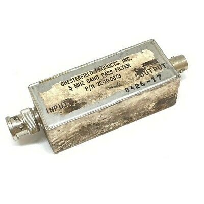 5mhz Band Pass Filter Bpf 22-10-0673 Chesterfield