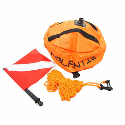 Nylon Dive Flag (Palantic Scuba Diving Spearfishing Nylon Ball Shape Float with Dive)