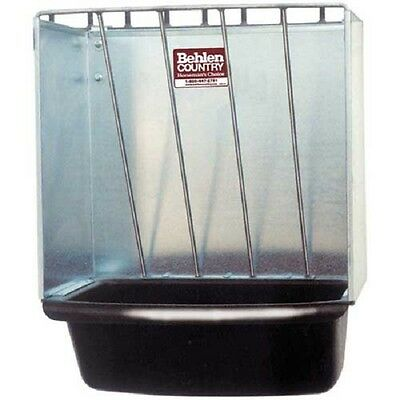 New Galvanized Hay Rack Wall Stall Feeder W Rounded Edges 20l X 20w X 12h