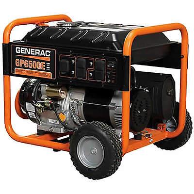 Generac GP6500E - 6500 Watt Electric Start Portable Generator (Generac 5941)
