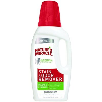 Natures Miracle Stain & Odor Remover Cats Dogs Puppies Kennels Blood Stains 32oz