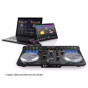 NEW - Hercules Universal DJ Controller with Bluetooth - works with all devices - Android, iOS, PC and Macbook