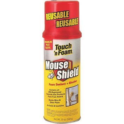 6 Pk Touch N Foam White Mouse Shield 12 Oz. Foam Sealant Blocker 4001012506