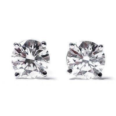 IGI Certified 1/3 cttw Round Cut 14K White Gold Diamond Stud Earrings