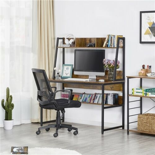 Computer Desk Home Office Desk PC Laptop Study Workstation Table with Bookshelf