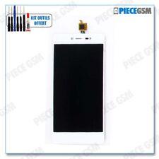 ECRAN LCD + VITRE TACTILE pour WIKO FEVER BLANC + outils + colle b7000