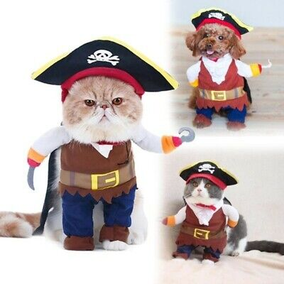 Funny Halloween Costumes for Cats and Dogs:Pirate Dress Up Small