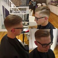Mens haircut and fade