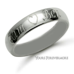 Name-Ring-Promise-Ring-Stainless-Steel-Personalized-Any-2-Names-Heart-Free