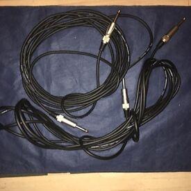 2 Audio 6.3mm jack 3m cables