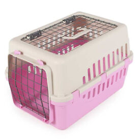 BARGAIN PLASTIC CAT CARRIER front & TOP opening