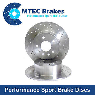 Rear Brake Discs, Performance Drilled and Grooved Rear Brake Discs (MTEC500)