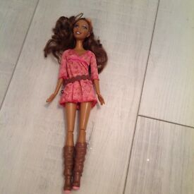 Unusual dark skin toned Barbie