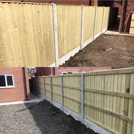 🌳Tanalised Bow Top Feather Edge Garden Fence Panels - High Quality🌲