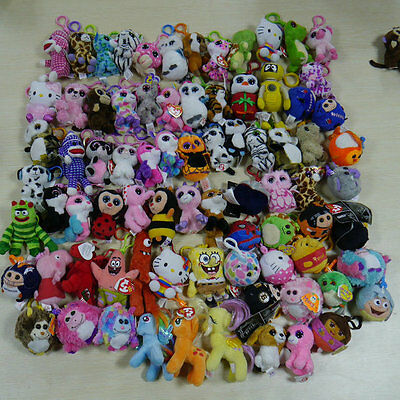Lots 10pcs/set Ty beanies boos ornament Plush key clip-on Random PLEASE READ