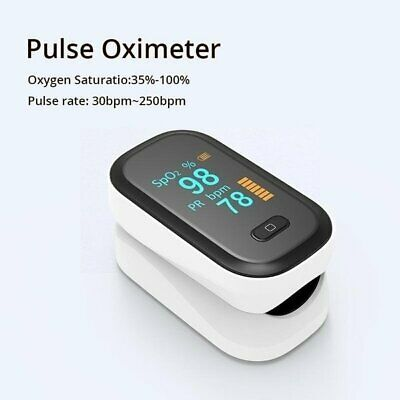 Finger Pulse Oximeter Blood Oxygen Meter Spo2 Heart Rate Saturation Monitor