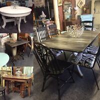 VARIETY OF Vintage, antique & retro refinished dining furniture!