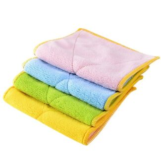 Microfiber double-sided padded absorbent lint-free rags