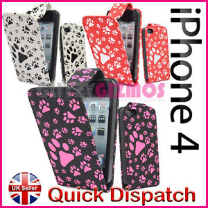 DOG CAT PAW PRINT PU LEATHER MAGNETIC FLIP POUCH CASE COVER FOR MOBILE PHONES