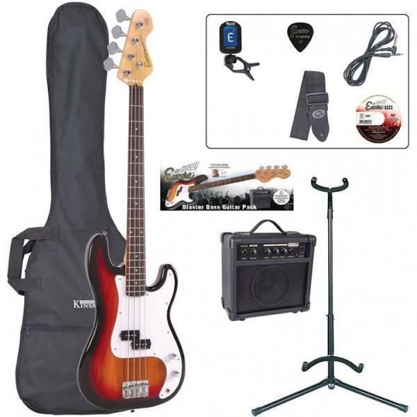 Encore E4 Bass Guitar Outfit - Sunburst