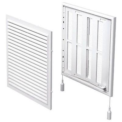 Air Vent Grille Cover 250x250mm White Ventilation Grill Air Regulator (Mv250rs