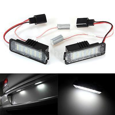 2pcs LED Number License Plate Seat Light Lamp For VW GOLF MK4 MK5 Car Error Free