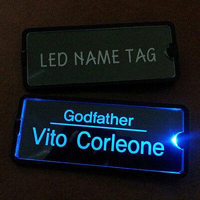 NEW! Waiter badge / Night badges / Name Tags / LED badge / Nameplate