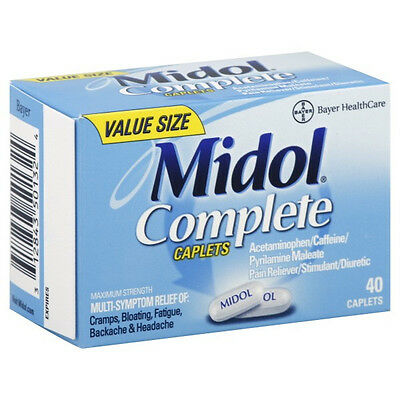 Midol Complete Maximum Strength Pain Reliever 40 Count Menstrual