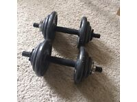 Cast iron dumbbells x2 10kg