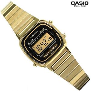 Casio-LA670WGA-1D-LA670WGA1-Classic-Ladies-Gold-Stainless-Steel-Digital-Watch