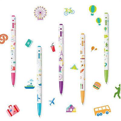 Monami 153 Ball Point Pen Travel Series 0.5 mm 5 pcs Set  Ink Black