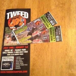 2 tickets to Tweed Stampede