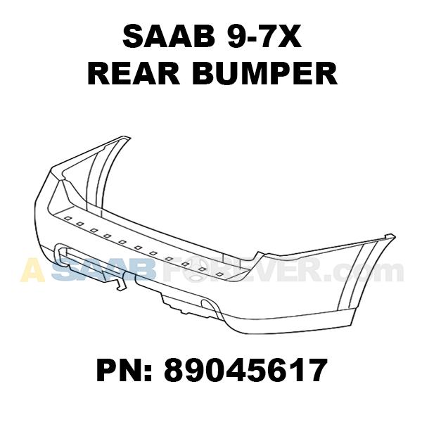 SAAB 9-7X Rear Bumper Cover 2005-2009 97x NEW GENUINE OEM