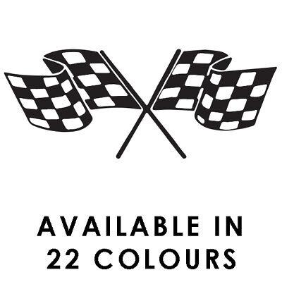 Chequered Flags Car Stickers  Motorbike Vinyl Decals  Fairings Panniers Helmet